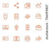 set of 16 commercial outline...   Shutterstock .eps vector #706495807