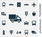 shipment icons set. collection... | Shutterstock .eps vector #706502083