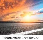 asphalt road and beautiful sky... | Shutterstock . vector #706505977