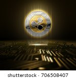 a ripple cryptocurrency... | Shutterstock . vector #706508407