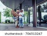happy handsome man with... | Shutterstock . vector #706513267