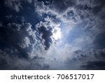 dramatic sky with gray stormy... | Shutterstock . vector #706517017