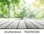 empty wooden table with party...   Shutterstock . vector #706540183
