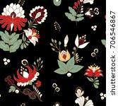 stock vector seamless flower ... | Shutterstock .eps vector #706546867