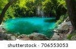 amazing emerald pool in lampang ... | Shutterstock . vector #706553053