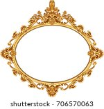 gold vintage frame isolated on... | Shutterstock .eps vector #706570063