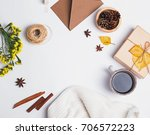 small autumn related objects... | Shutterstock . vector #706572223