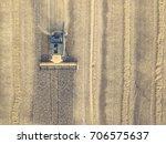 combine harvester in a crop...