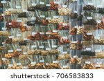 assorted herbs and spices in...   Shutterstock . vector #706583833