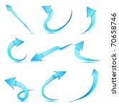 illustration of set of arrows... | Shutterstock .eps vector #70658746