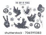 international day of peace... | Shutterstock .eps vector #706595383