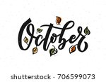 october lettering typography