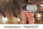 Young Woman Using Virtual...