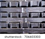 close up aluminium ingot in... | Shutterstock . vector #706603303