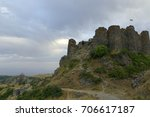 destroyed amberd fortress in... | Shutterstock . vector #706617187