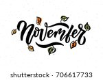 November Lettering Typography....