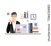 young businessman character...   Shutterstock .eps vector #706626883