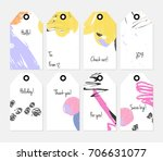 hand drawn creative tags.... | Shutterstock .eps vector #706631077
