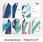 hand drawn creative tags.... | Shutterstock .eps vector #706631137