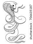snake cobra tattoo style cobra... | Shutterstock .eps vector #706635187