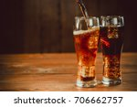 pouring beautiful cold drink of ... | Shutterstock . vector #706662757