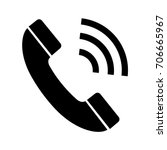 phone call vector icon. | Shutterstock .eps vector #706665967