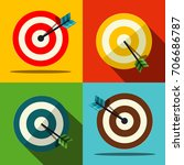 target icons set vector | Shutterstock .eps vector #706686787