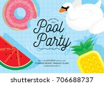 floats summer pool party... | Shutterstock .eps vector #706688737