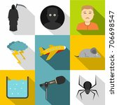 anxiety and stress icon set....   Shutterstock .eps vector #706698547