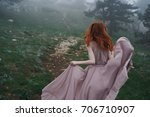 woman running in the mountains...   Shutterstock . vector #706710907