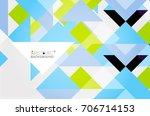 triangle pattern design... | Shutterstock . vector #706714153