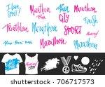 running marathon vector...   Shutterstock .eps vector #706717573