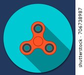 hand spinner flat vector icon. | Shutterstock .eps vector #706738987
