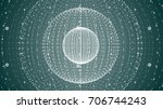 abstract sphere of points and... | Shutterstock .eps vector #706744243