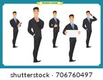 businessman character poses ...   Shutterstock .eps vector #706760497