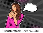 young pretty woman making...   Shutterstock .eps vector #706763833