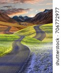 intertwined roads  four seasons ... | Shutterstock . vector #706772977