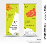 roll up banner design brochure... | Shutterstock .eps vector #706775083