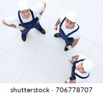 view from the top   group of... | Shutterstock . vector #706778707