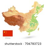 china physical map. isolated on ... | Shutterstock .eps vector #706783723