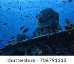 thistlegorm wreck diving site... | Shutterstock . vector #706791313