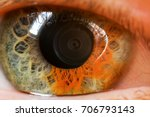 human eye with sectoral...   Shutterstock . vector #706793143