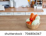 carrot  tomato  cabbage in a... | Shutterstock . vector #706806367