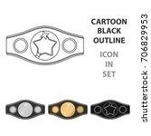 boxing championship belt icon... | Shutterstock .eps vector #706829953