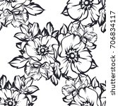 abstract elegance seamless... | Shutterstock .eps vector #706834117