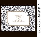 romantic invitation. wedding ... | Shutterstock .eps vector #706835113