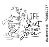 life is sweet and so are you... | Shutterstock .eps vector #706881787