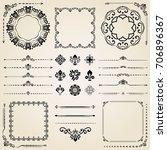 vintage set of classic elements.... | Shutterstock . vector #706896367