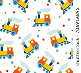 retro seamless pattern with... | Shutterstock .eps vector #706916893