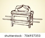 vintage solomon ritual sanctity ... | Shutterstock .eps vector #706937353